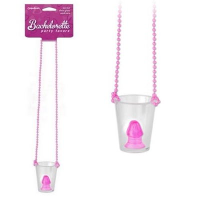 Рюмка с фаллосом Pecker Shot Glass Necklace PINK, 792620